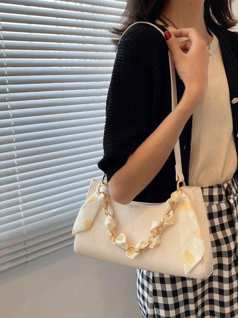 Schal Eingewickelte Schal mit Gestreiften Taschen - Beige  Mobile