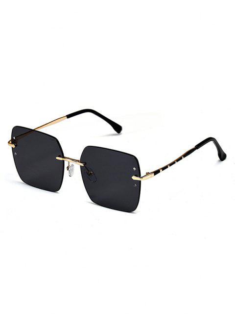 Randlose Quadratische Sonnenbrille aus Metall - Schwarz  Mobile
