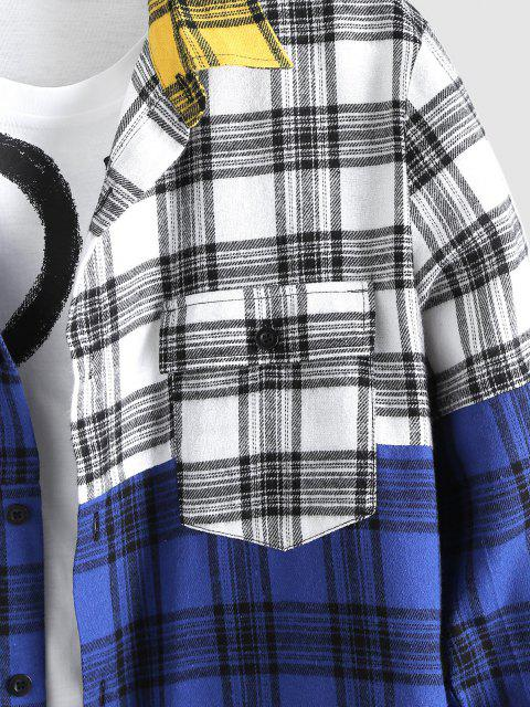 Chemise Jointive à Carreaux en Blocs de Couleurs - Jaune XL Mobile
