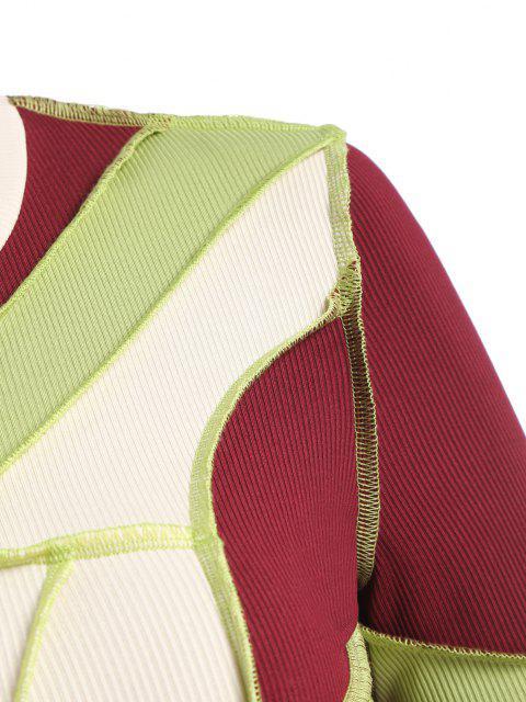 Top Corta Acanalada con Costura - Verde S Mobile
