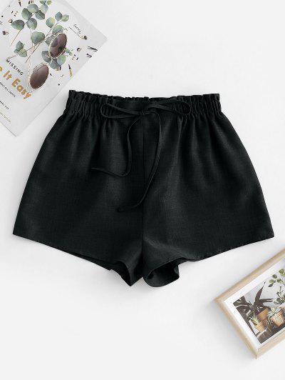 ZAFUL Pull On Paperbag Shorts - Black M