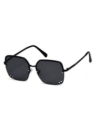 Aushöhlende Dreieck Halbrandlose Sonnenbrille - Schwarz