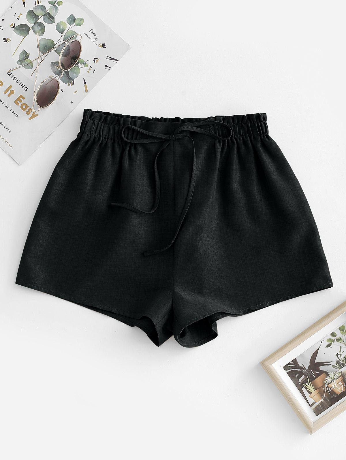 ZAFUL Pull On Paperbag Shorts