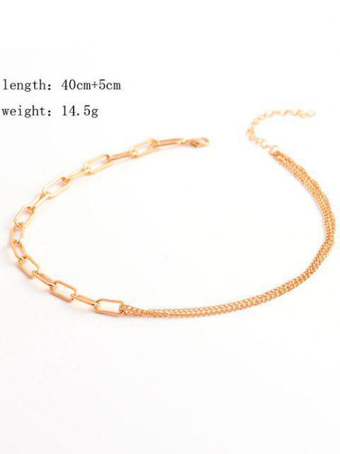 Minimalistische Spleißige Kettenhop-Hop-Stil-Halskette - Golden  Mobile