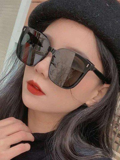 Square Frame Stud Detail UV Protection Sunglasses - Black