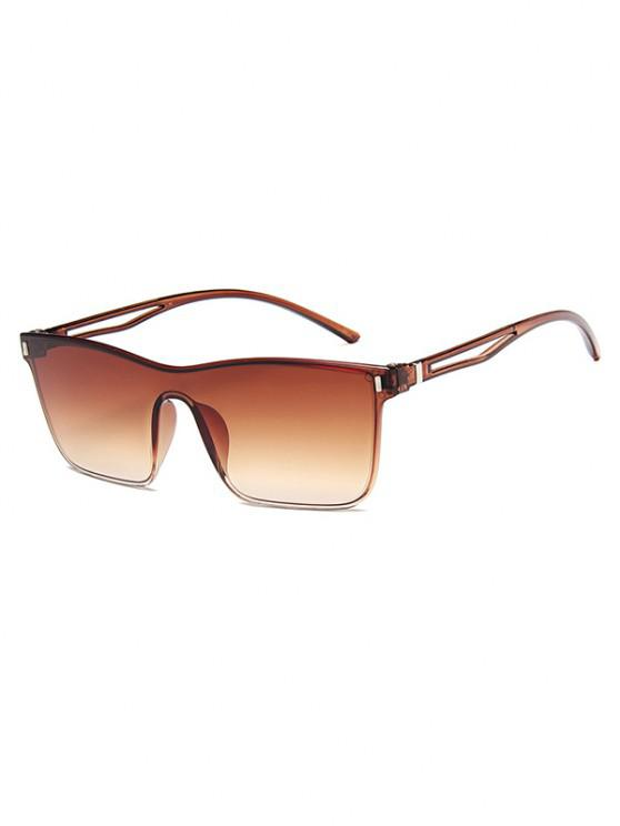 womens Edgy Style Square Frame Lightweight Gradient Sunglasses - LIGHT BROWN