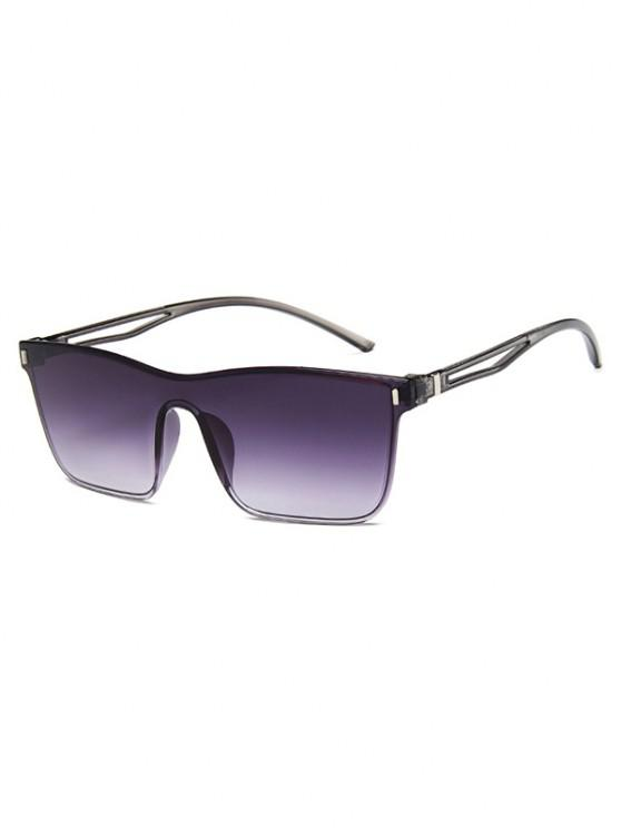 women's Edgy Style Square Frame Lightweight Gradient Sunglasses - SLATE BLUE