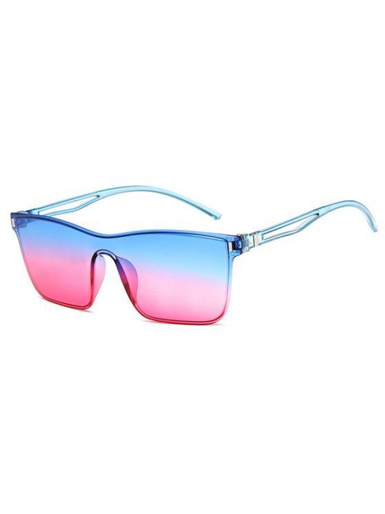 Edgy Style Square Frame Lightweight Gradient Sunglasses - وردي فاتح
