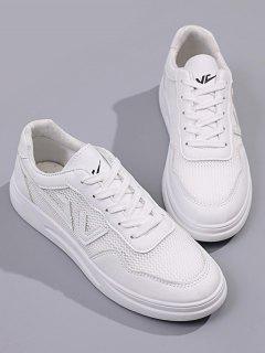 Zapatos De Deporte Con Malla Insertada - Blanco Eu 39