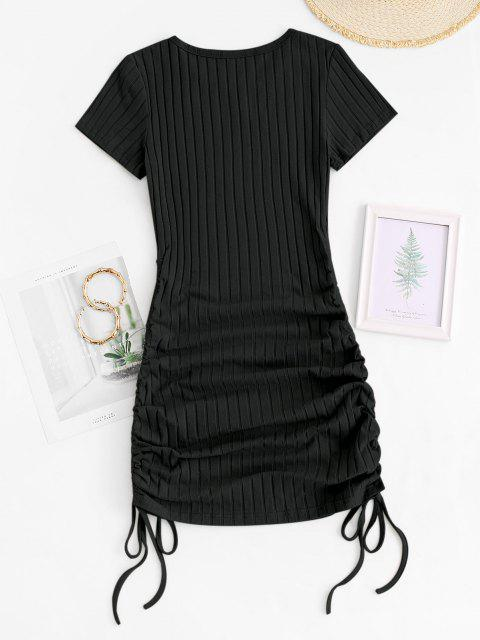 Mini Vestido Tacón Grueso - Negro XS Mobile