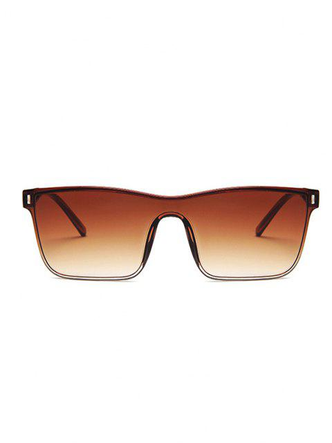 EDGY STYLE SQUARE FRAME Leichte Gradient Sonnenbrille - Hellbraun  Mobile