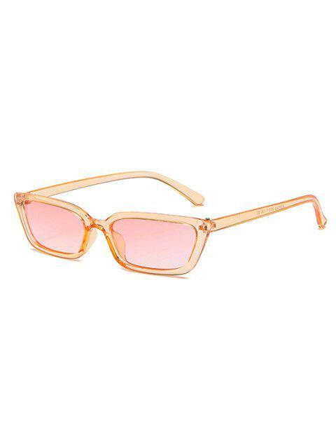 Retro Stil Schlanke Transparente Sonnenbrille - Hell orange  Mobile