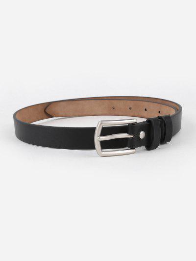 Cinturon Hebilla Retro Cuero PU - Negro