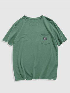 ZAFUL T-shirt Avec Poche à Manches Courtes - Vert Clair Xxl
