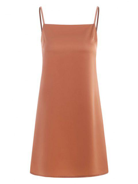 Cami Kapuze Mini Kleid - Hell orange S Mobile