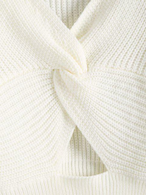 Jersey Cuello V Recortado Twisted - Blanco M Mobile