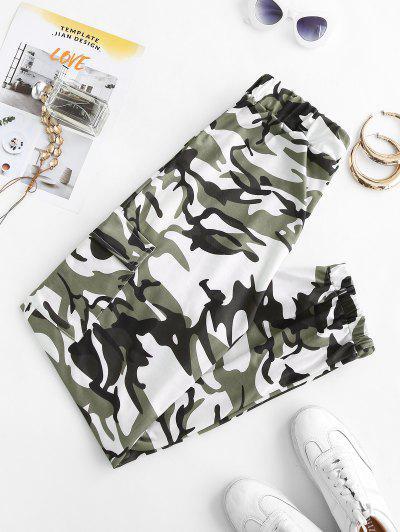 Klappen Tasche Camouflage Jogginghose - Dunkelgrün M