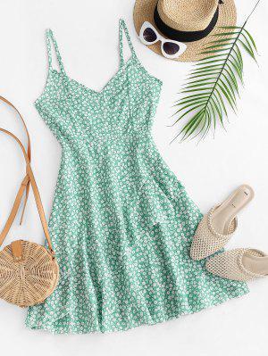 zaful Ditsy Print Ruffle Cami Dress