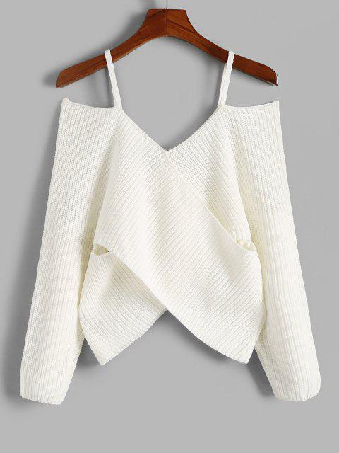 Jersey Cuello Redondo Abertura Hombros - Blanco S Mobile
