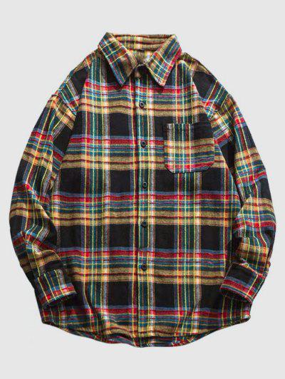 Camicia Di ZAFUL A Quadretti Con Tasca - Multi Colori L