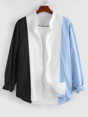 zaful ZAFUL Colorblock Long Sleeve Shirt