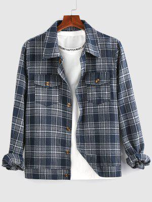 zaful ZAFUL Plaid Pattern Shirt Jacket