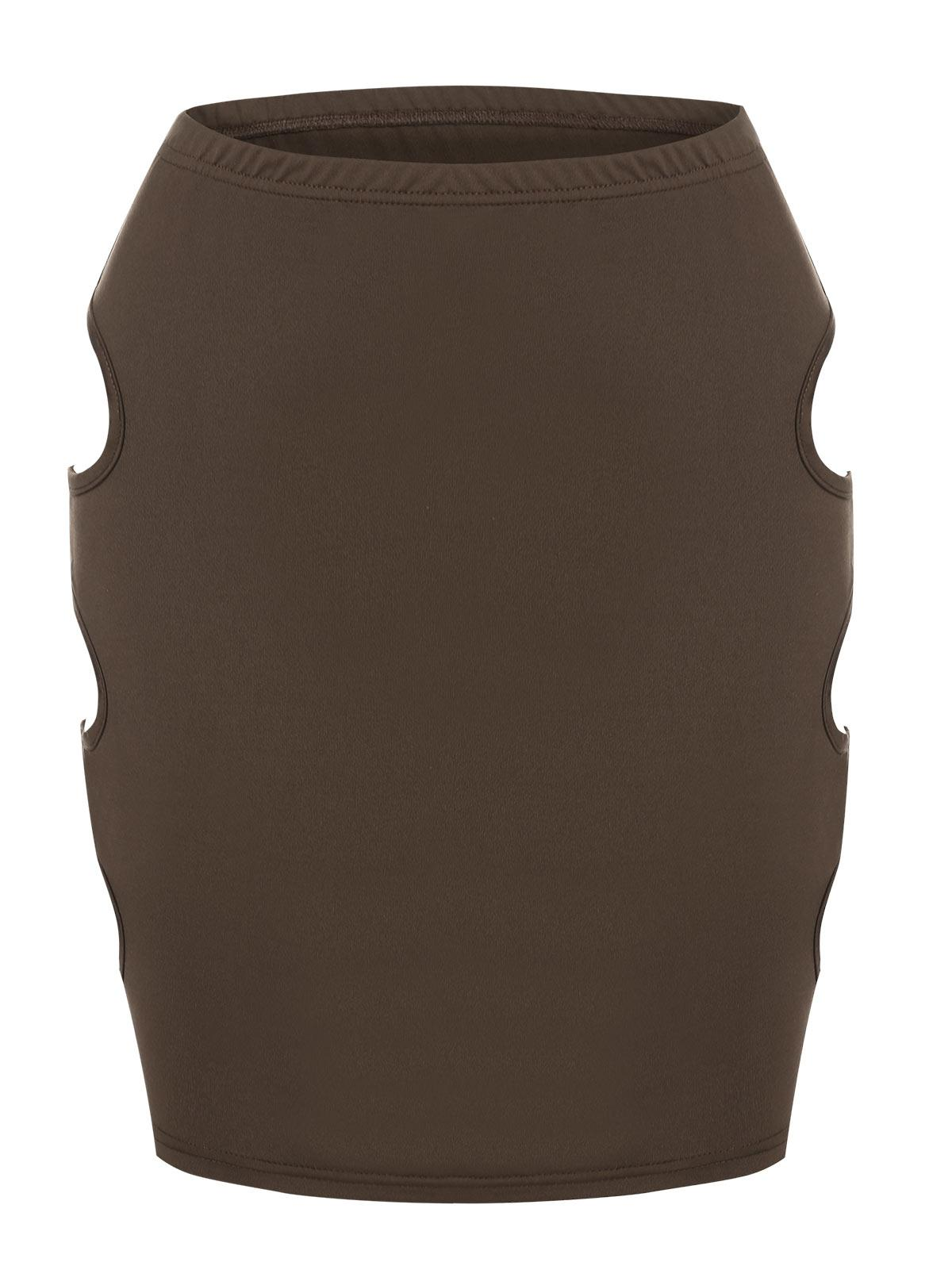 ZAFUL Cut Out Side Bodycon Skirt