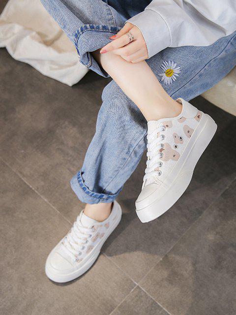 Spot Bedruckte Segeltuch Schuhe mit Schnürung - Braun EU 37 Mobile