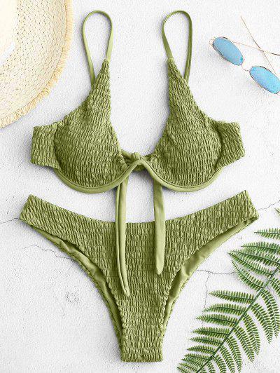 ZAFUL Kittl Bügel Bikini Set Mit Schnürung - Hellgrün M