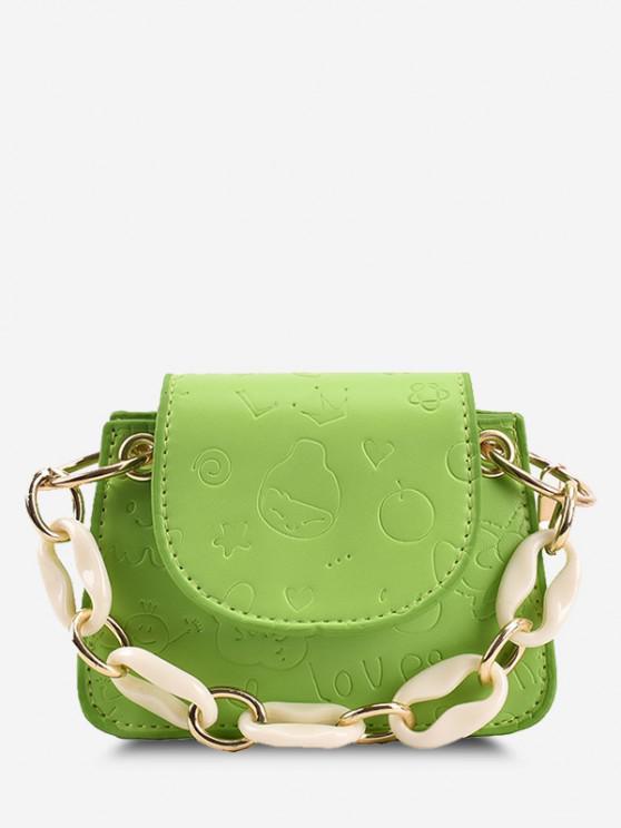 shop Embossed Chain Mini Crossbody Bag - GREEN