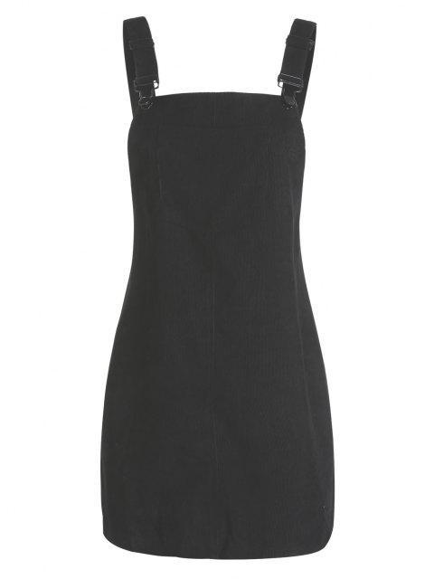 Kaltes Overall Kleid mit Vordertasche - Schwarz M Mobile