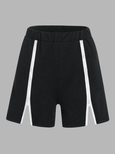 ZAFUL Zip Embellished Pull On Shorts - Black S