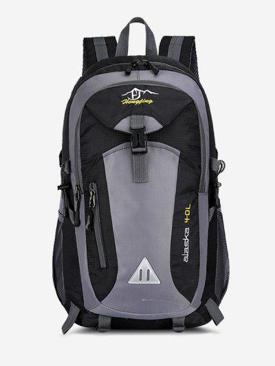 Outdoor Colorblock Travel Backpack - Black