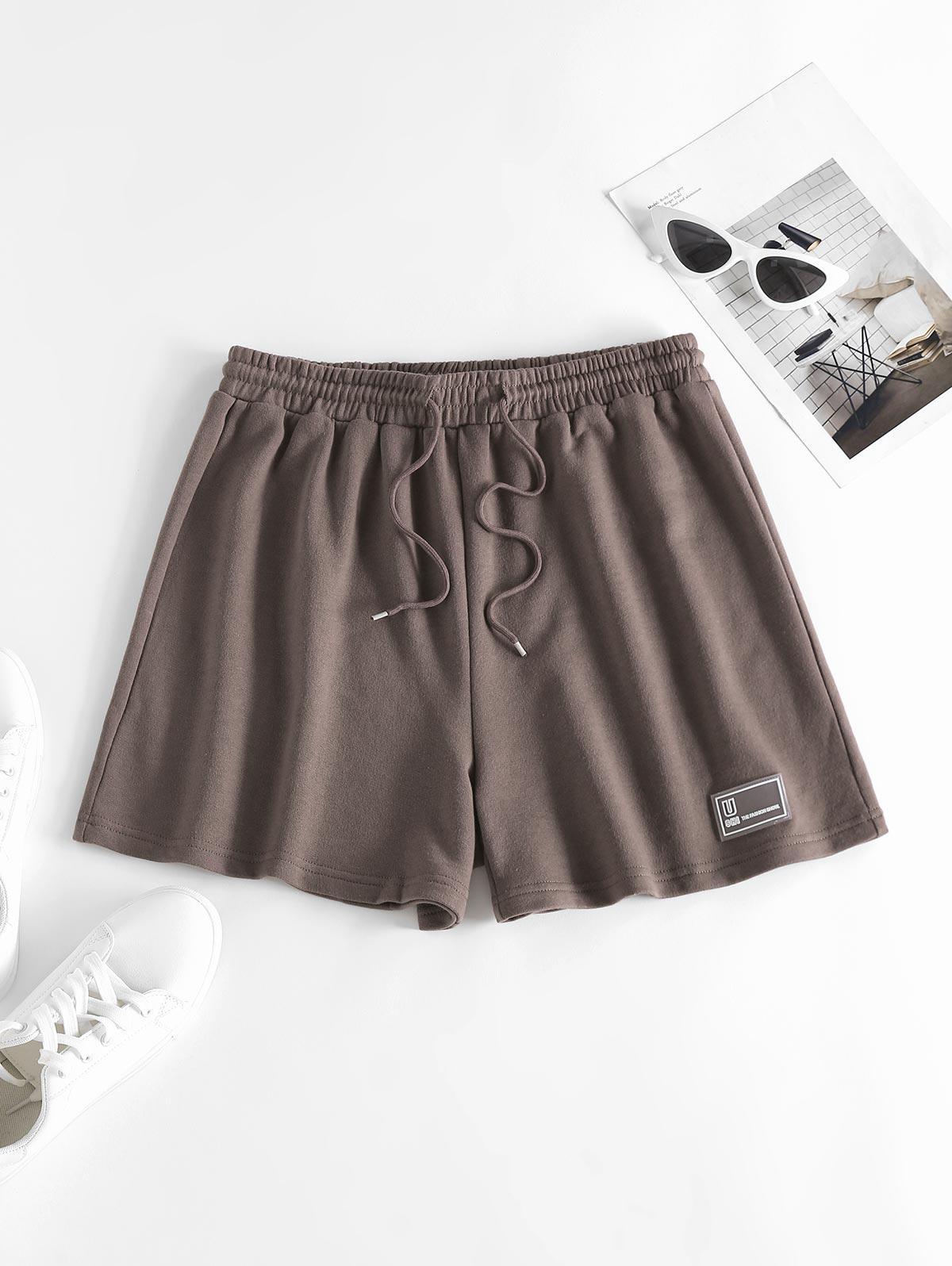 ZAFUL Drawstring Pull On Sweat Shorts