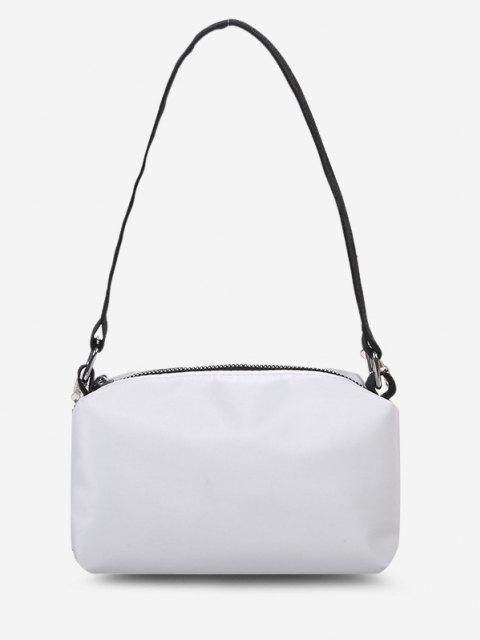 Minimalistische Doppelbandkette Crossbody Bag - Milchweiß  Mobile