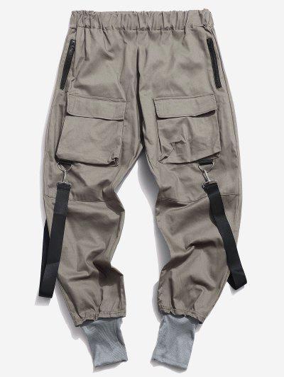 Multi Pockets Casual Cargo Pants - Dark Gray S