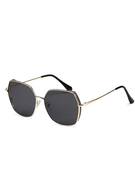 buy Oversize Irregular Frame Tinted Metal Sunglasses - BLACK