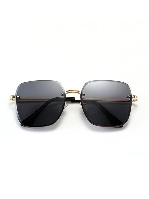 Quadratische Rahmen Randlose Multicolor Multicolor Multicolor Schiere Metall Sonnenbrille - Schwarz  Mobile