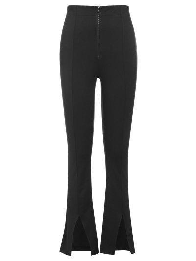 ZAFUL Pantalon Fendu Zippé En Avant - Noir M