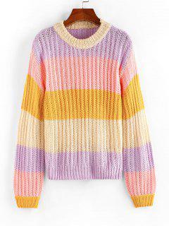 ZAFUL Jersey Calado De Bloqueo De Color - Multicolor M