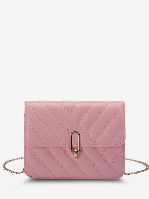 Schrägstrich Hals Gesteppte Hälfte Ketten Umhängetasche Tasche - Helles Rosa  Mobile