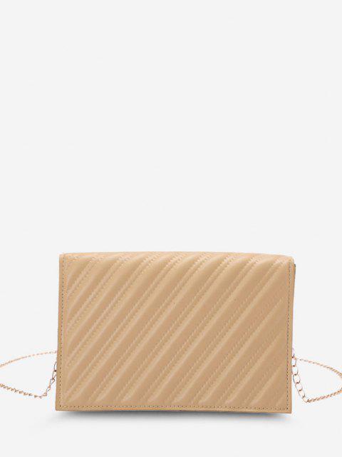 Zwillinge Gesteppte Umhängetasche mit Kettenriemen - Helles Khaki  Mobile