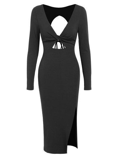 ZAFUL Vestido Torcido De Corte Espalda Abierta - Negro Xl