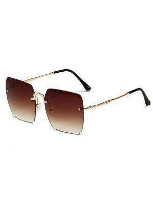 zaful Rimless Metal Square Sunglasses