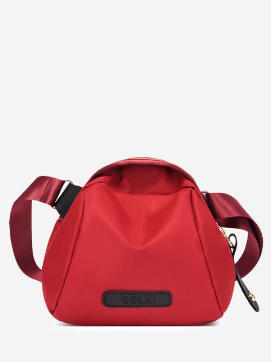 affordable Minimalistic Nylon Adjustable Strap Shoulder Bag - RED