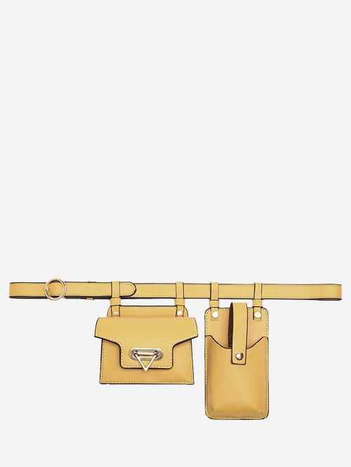 Mini Flap Waist Belt Bag With Phone Bag