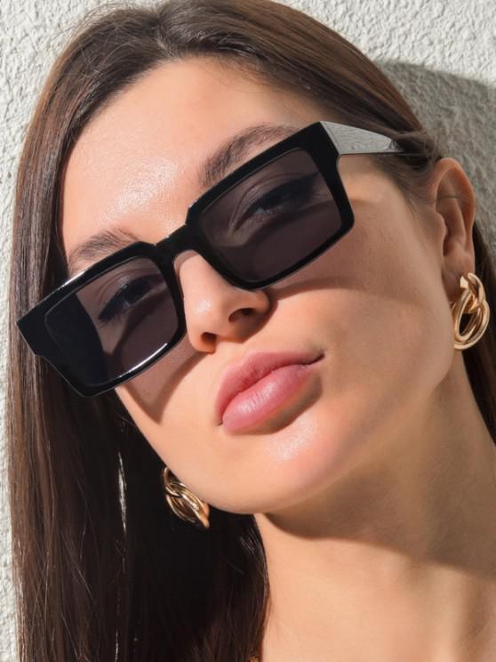 womens Classic Square-Frame Wide Arm Sunglasses - BLACK