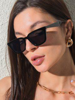 Classic Square-Frame UV Protection Sunglasses - Black