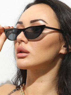 Retro Slim Eye Rahment Leichte Sonnenbrille - Schwarz