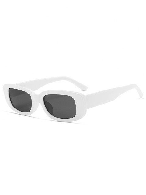 Retro Rechteckige Sonnenbrille mit Weitem Gestell - Milchweiß  Mobile